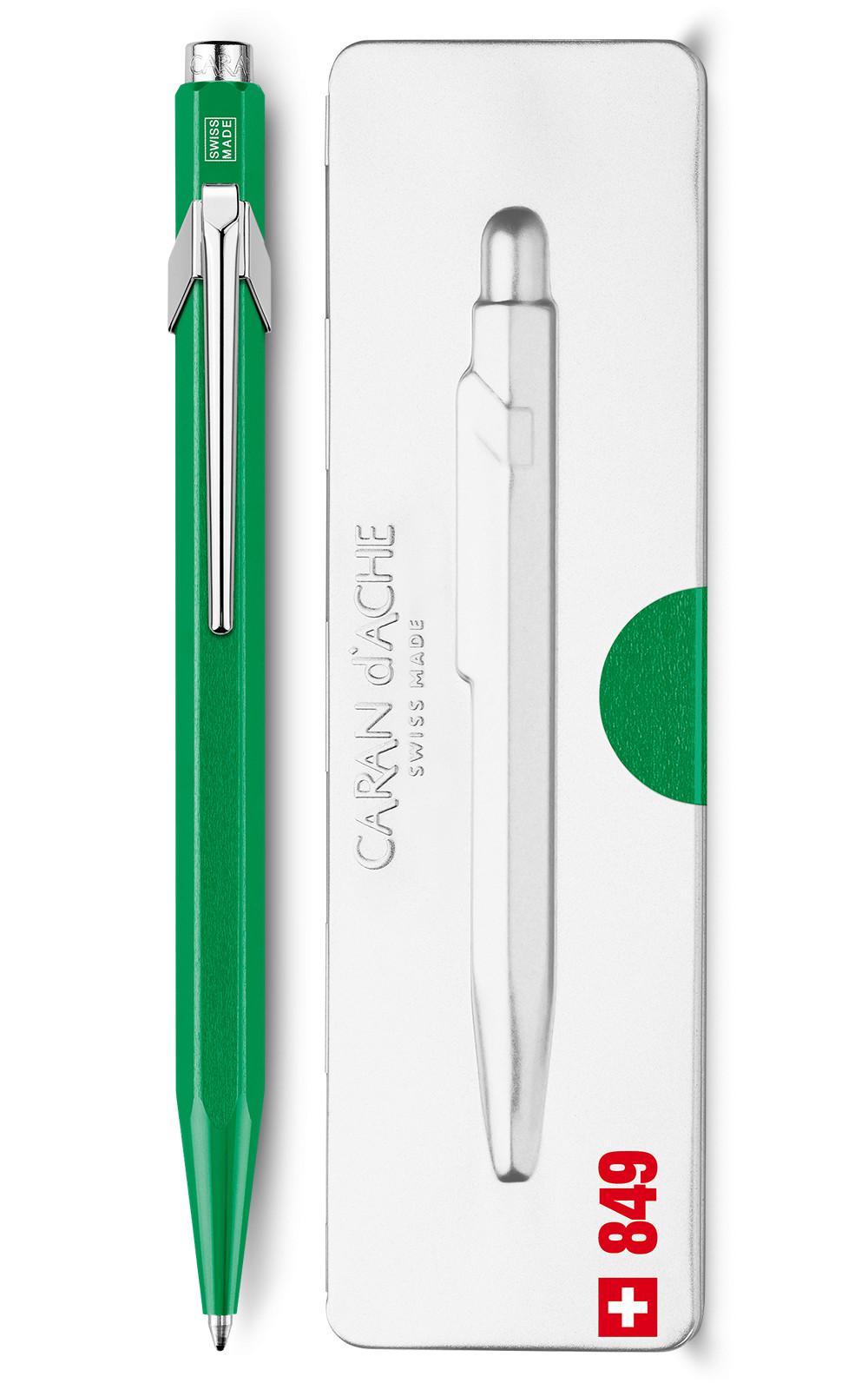 Ручка Caran d'Ache 849 Metal-X Зелена + box
