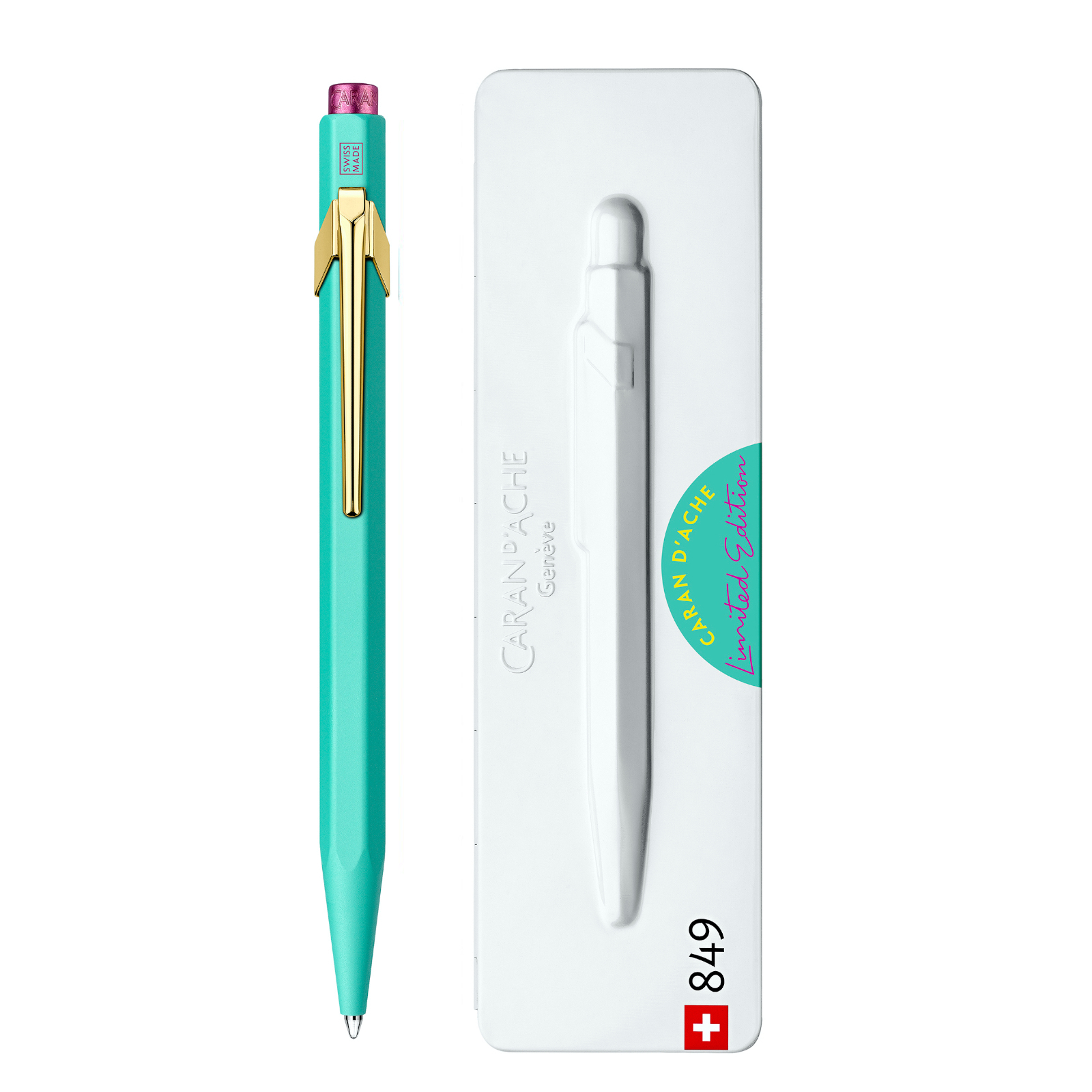 Ручка Caran d'Ache 849 Claim Your Style Бірюзова + box