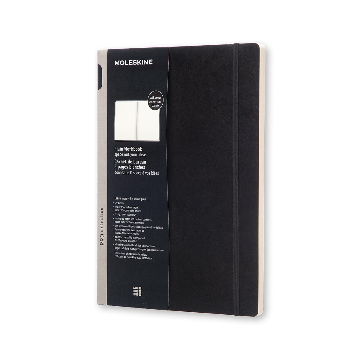 Записник Moleskine Workbook A4 / Нелінований Чорний М'який
