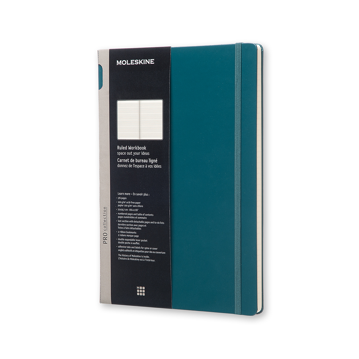 Записник Moleskine Workbook A4 / Лінійка Шалфей