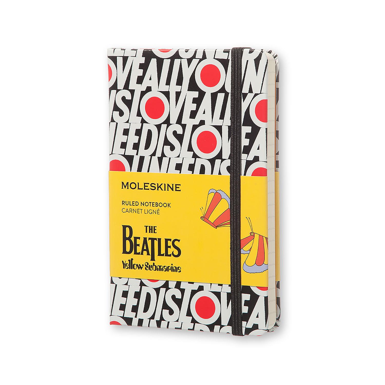 Записник Moleskine Beatles кишеньковий / Лінійка All You Need Is Love