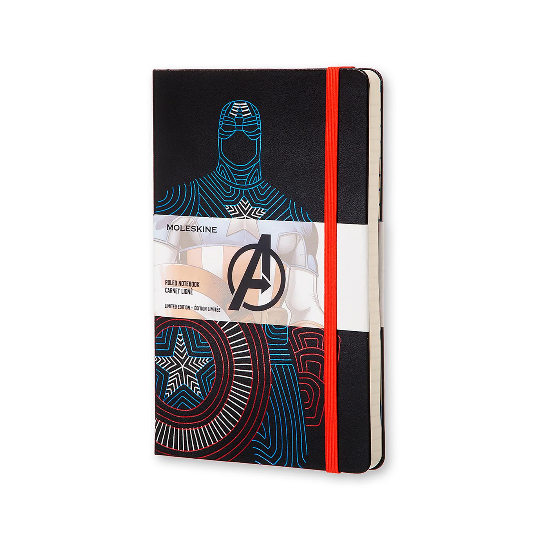 Записник Moleskine Avengers середній / Лінійка Капітан Америка