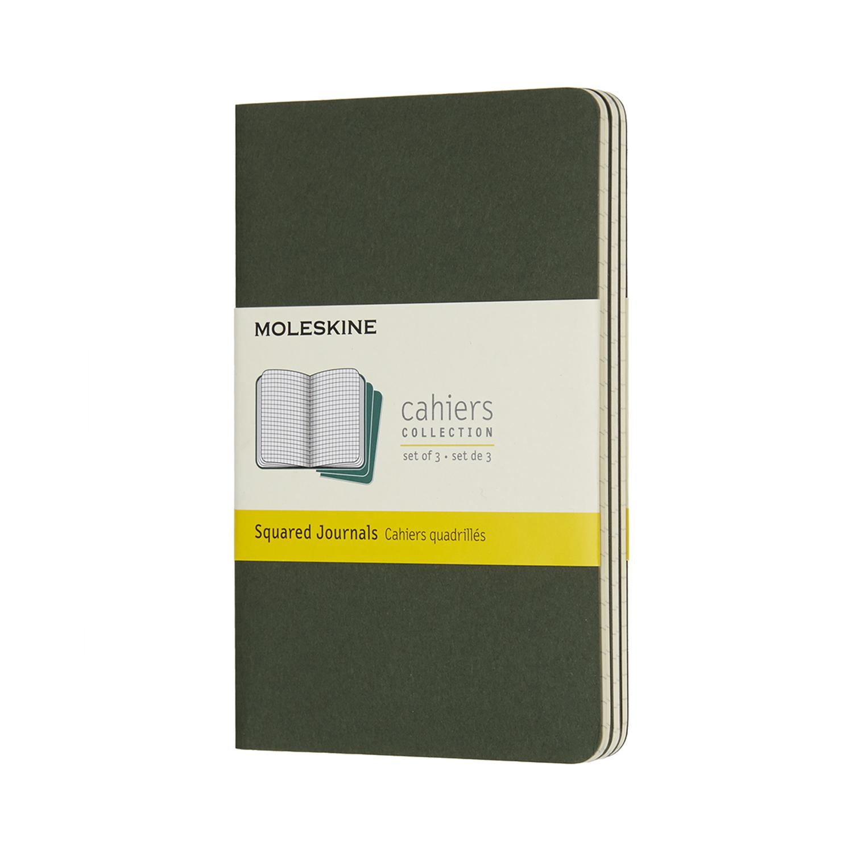 Записник Moleskine Cahier кишеньковий / Клітина Зелений