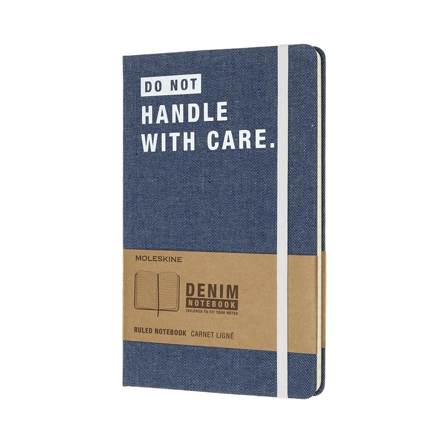 Записник Moleskine Denim середній / Лінійка Handle With Care