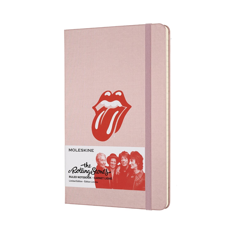 Записник Moleskine Rolling Stones середній / Лінійка Рожевий Канва