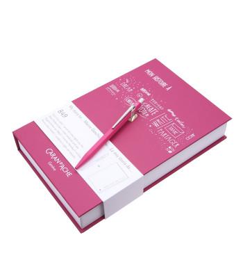 Набір Caran d'Ache Ручка 849 Пурпурна + Записник в подарунковому боксі