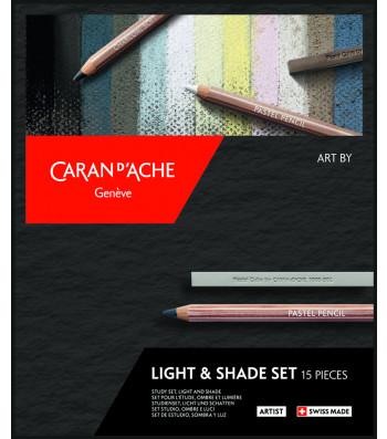 Набір Caran d'Ache Artist Light & Shade - 15 предметів