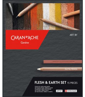 Набір Caran d'Ache Artist Flesh & Earth - 15 предметів