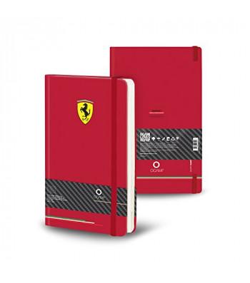 Записник Ogami Hard Ferrari середній червоний точка