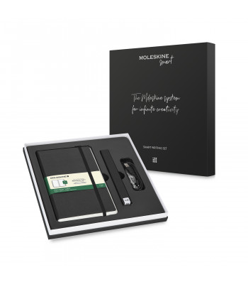 Набір Moleskine Smart Writing Set Ellipse (Smart Pen + Paper Tablet Нелінований Чорний)