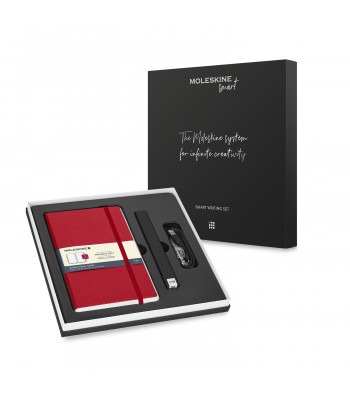 Набір Moleskine Smart Writing Set Ellipse (Smart Pen + Paper Tablet Точка Червоний)