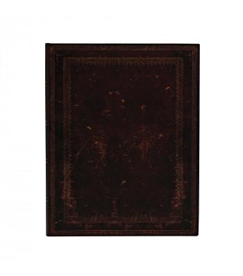 Записник Paperblanks Bullet Journal Стара Шкіра - Чорний Марокканський / великий Точка