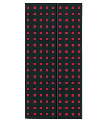 Записник Paper-Oh Quadro B6.5 Лінійка Чорний на Червоному