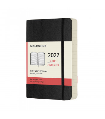 Щоденник Moleskine 2022 кишеньковий Чорний М'який