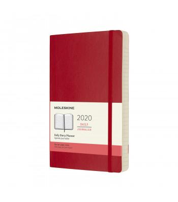 Щоденник Moleskine 2020 середній Червоний М'який