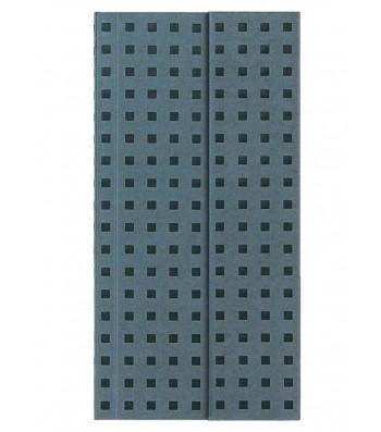 Записник Paper-Oh Quadro B6.5 Лінійка Сірий на Чорному