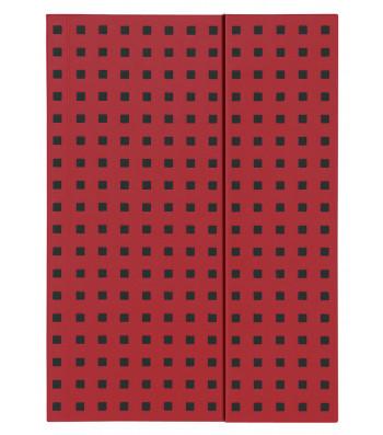 Записник Paper-Oh Quadro B5 Лінійка Червоний на Чорному