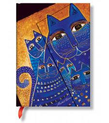 Записник Paperblanks Фантастичні Коти середній Лінійка Середземноморські Коти
