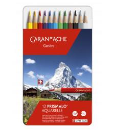Набір Акварельних Олівців Caran d'Ache Prismalo® - 12 кольорів