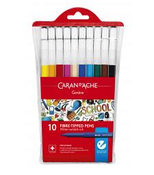 Набір Акварельних Фломастерів Caran d'Ache School Line - 10 кольорів