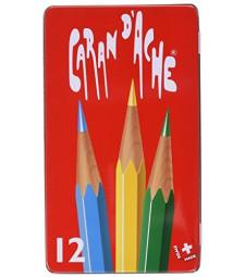 Набір Акварельних Олівців Caran d'Ache Red Line - 12 кольорів