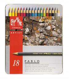 Набір Водостійких Олівців Caran d'Ache Pablo® - 18 кольорів