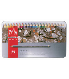 Набір Водостійких Олівців Caran d'Ache Pablo® - 40 кольорів