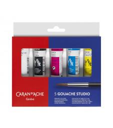 Фарба Гуаш Caran d'Ache Gouache Studio 5 кольорів по 21 мл