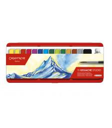 Фарба Гуаш Caran d'Ache Studio 15 кольорів з пензлем