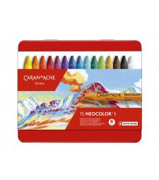 Пастель Воскова Водостійка Caran d'Ache Neocolor® I - 15 кольорів