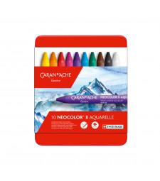 Пастель Воскова Акварельна Caran d'Ache Neocolor® II - 10 кольорів