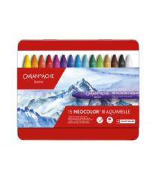 Пастель Воскова Акварельна Caran d'Ache Neocolor® II - 15 кольорів