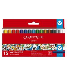Пастель Воскова Акварельна Caran d'Ache School Line 15 кольорів