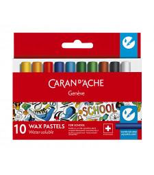 Пастель Воскова Акварельна Caran d'Ache School Line 10 кольорів
