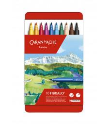 Набір Акварельних Фломастерів Caran d'Ache Fibralo - 10 кольорів