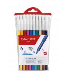 Набір Акварельних Фломастерів Caran d'Ache Fancolor - 10 кольорів