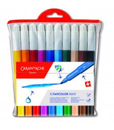 Набір Акварельних Фломастерів Caran d'Ache Fancolor Maxi - 10 кольорів