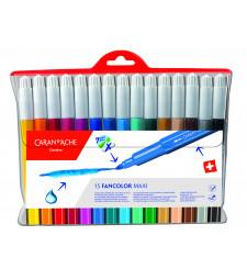 Набір Акварельних Фломастерів Caran d'Ache Fancolor Maxi - 15 кольорів