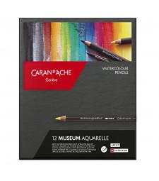 Набір Акварельних Олівців Caran d'Ache Museum Aquarelle - 12 кольорів