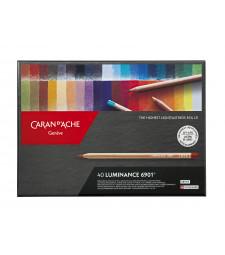 Набір Водостійких Олівців Caran d'Ache Luminance 6901® - 40 кольорів