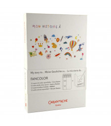 Набір Caran d'Ache Fancolor – 12 Акварельних олівців + Розмальовка
