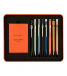 Набір Caran d'Ache 849 Paul Smith 8 ручок в подарунковому боксі