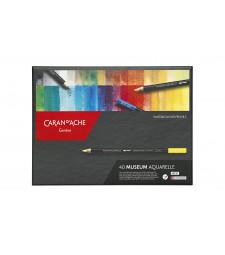 Набір Акварельних Олівців Caran d'Ache Museum Aquarelle - 40 кольорів
