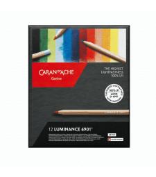 Набір Водостійких Олівців Caran d'Ache Luminance 6901® - 12 кольорів