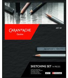 Набір Caran d'Ache Artist Sketching - 14 предметів