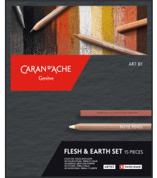 Набір Caran d'Ache Artist Flesh & Earth - 15 предметів