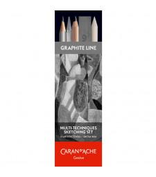Набір Caran d'Ache Artist Graphite Line для нарисів - 11 предметів