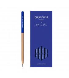Набір Caran d'Ache Klein Blue® HB Картонний бокс, 4 графітових олівці