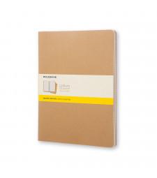 Набір зошитів Moleskine Cahier XXL Клітинка Беж