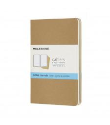 Набір зошитів Moleskine Cahier кишеньковий Точка Беж